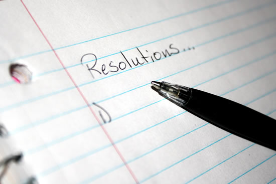 New-Year Resolutions list med